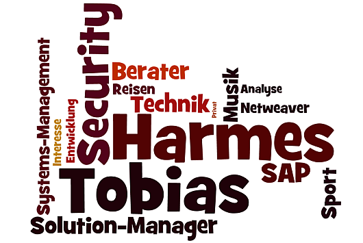 Tobias Harmes Word Cloud