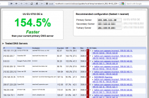 namebench DNS Benchmark Ergebnis