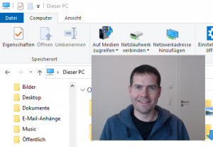 WebcamOnDesktop in Aktion